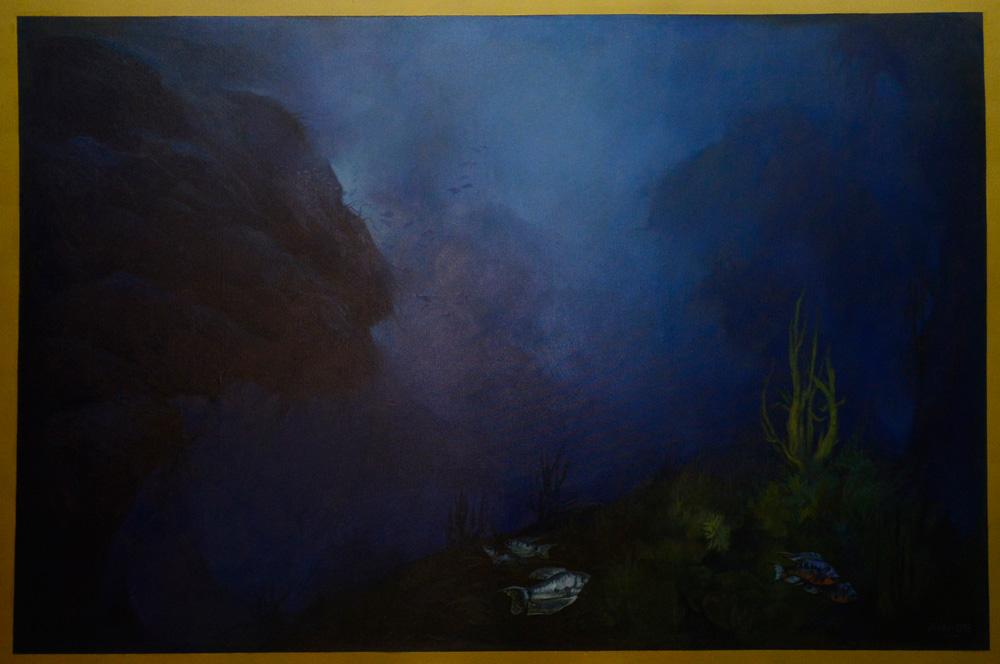 """""""Βυθός"""" 120χ80cm ελαιογραφία σε μουσαμά 2000"""