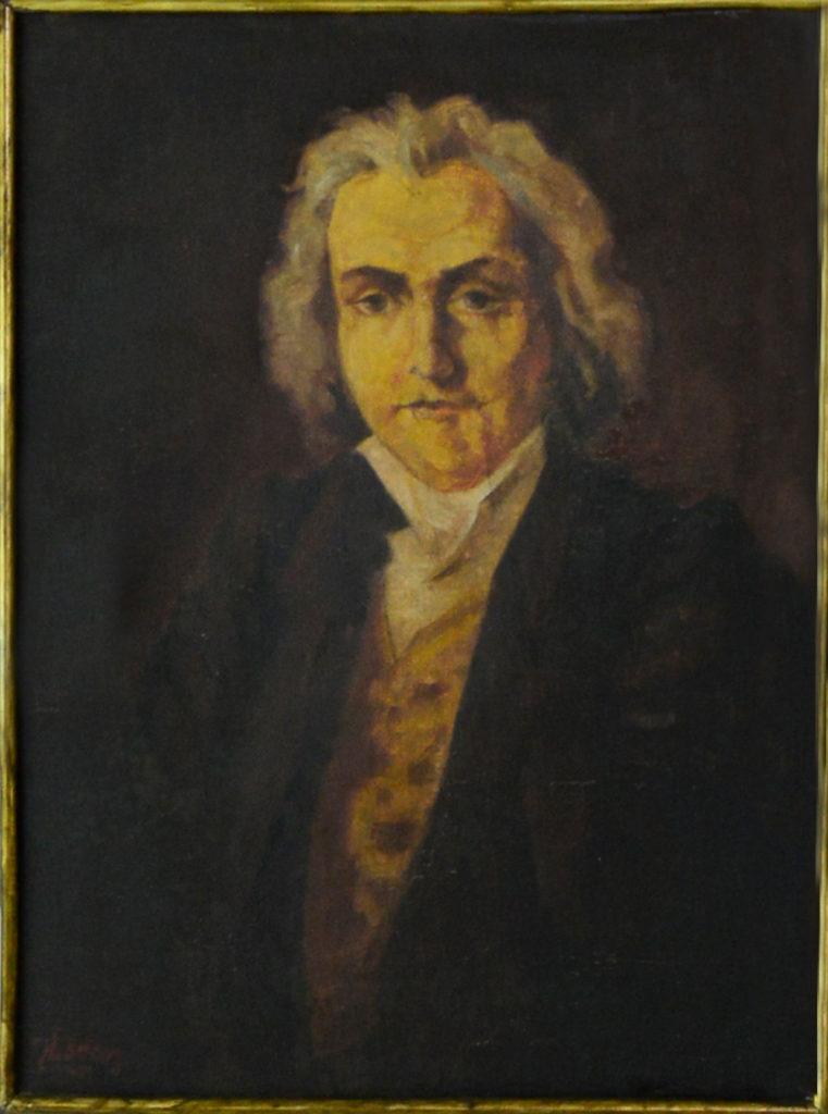 """""""Πορτρέτο ανδρός"""" 70χ52cm ελαιογραφία σε πανί 1969"""