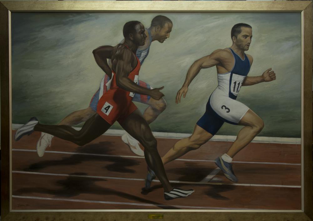 Διαστάσεις: 190 x 130 cm Ελαιογραφία σε Μουσαμά Έτος: 2004 Οι εικόνες ενδέχεται να υπόκεινται σε πνευματικά δικαιώματα